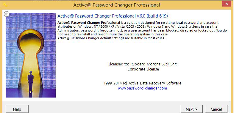 Active@ Password Changer破解Windows2012R2系统用户登陆密码步骤